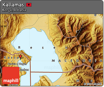 Physical Map of Kallamas