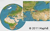 Satellite Location Map of Istanbul