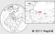 Blank Location Map of Sakarya