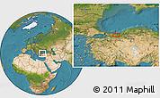 Satellite Location Map of Sakarya