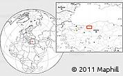 Blank Location Map of Bolu