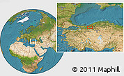 Satellite Location Map of Bolu