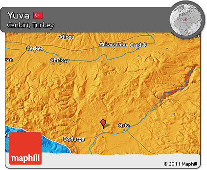 Free Political 3D Map of Yuva