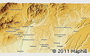"""Physical 3D Map of the area around 40°50'23""""N,3°19'30""""W"""