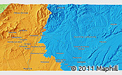 """Political 3D Map of the area around 40°50'23""""N,3°19'30""""W"""
