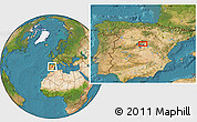 """Satellite Location Map of the area around 40°50'23""""N,3°19'30""""W"""