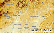 """Physical Map of the area around 40°50'23""""N,3°19'30""""W"""
