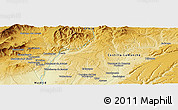 """Physical Panoramic Map of the area around 40°50'23""""N,3°19'30""""W"""