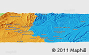 """Political Panoramic Map of the area around 40°50'23""""N,3°19'30""""W"""