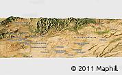 "Satellite Panoramic Map of the area around 40°50'23""N,3°19'30""W"