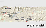 """Shaded Relief Panoramic Map of the area around 40°50'23""""N,3°19'30""""W"""