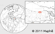 Blank Location Map of Trabzon