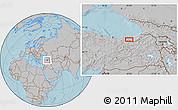 Gray Location Map of Trabzon, hill shading