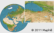 Satellite Location Map of Trabzon