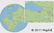 Savanna Style Location Map of Trabzon