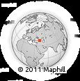 Outline Map of Yusufeli, rectangular outline