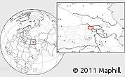 Blank Location Map of Kars