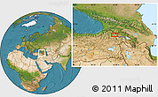 Satellite Location Map of Kars