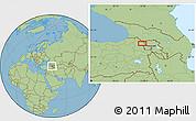 Savanna Style Location Map of Kars