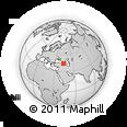 Outline Map of Kars, rectangular outline
