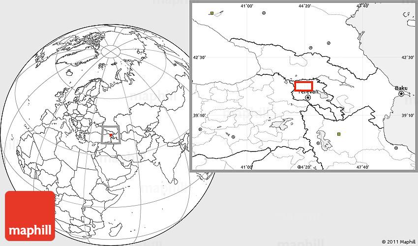 Blank Location Map Of Gyumri - Gyumri map