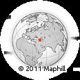 Outline Map of Shamkir, rectangular outline