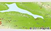 """Physical 3D Map of the area around 40°50'23""""N,46°49'30""""E"""