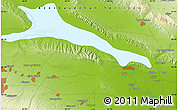 """Physical Map of the area around 40°50'23""""N,46°49'30""""E"""