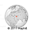 """Outline Map of the Area around 40° 50' 23"""" N, 46° 49' 30"""" E, rectangular outline"""