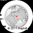 Outline Map of Fuzuli, rectangular outline