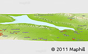 """Physical Panoramic Map of the area around 40°50'23""""N,46°49'30""""E"""