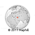 Outline Map of Göyçay, rectangular outline