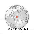 Outline Map of Şamaxı, rectangular outline