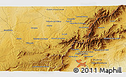 """Physical 3D Map of the area around 40°50'23""""N,4°10'30""""W"""