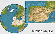 """Satellite Location Map of the area around 40°50'23""""N,4°10'30""""W"""