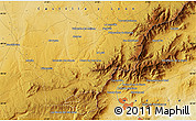 """Physical Map of the area around 40°50'23""""N,4°10'30""""W"""