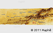 """Physical Panoramic Map of the area around 40°50'23""""N,4°10'30""""W"""