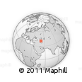"""Outline Map of the Area around 40° 50' 23"""" N, 51° 4' 30"""" E, rectangular outline"""