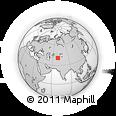Outline Map of Olmaliq, rectangular outline