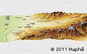 Physical Panoramic Map of Olmaliq