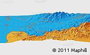 Political Panoramic Map of Olmaliq