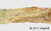 Satellite Panoramic Map of Olmaliq