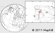 Blank Location Map of Olmedo de Camaces