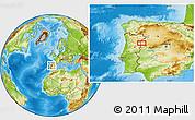 Physical Location Map of Olmedo de Camaces