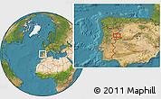 Satellite Location Map of Olmedo de Camaces