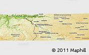 Physical Panoramic Map of Junça