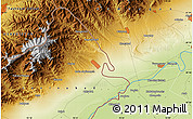 """Physical Map of the area around 40°50'23""""N,70°37'30""""E"""