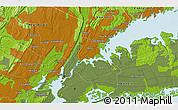 """Physical 3D Map of the area around 40°50'23""""N,73°52'30""""W"""