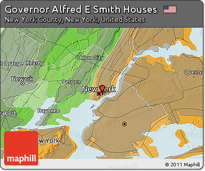 Free Political 3D Map of Governor Alfred E Smith Houses on map of alfred maine, map of new yorl, map of luling texas,