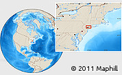 """Shaded Relief Location Map of the area around 40°50'23""""N,73°52'30""""W"""